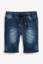Jersey Denim Pull-On Shorts (3-16yrs)