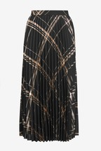 Metallic Pleated Skirt