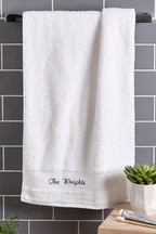 Personalised Egyptian Cotton Towels