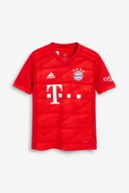 adidas Red FC Bayern Munich 19/20 Home Jersey Top