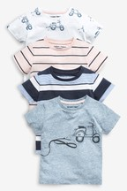4 Pack Scooter T-Shirts (3mths-7yrs)