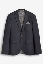 Signature Textured Linen Blend Slim Fit Nova Fides Blazer
