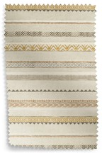 Ethnic Stripe Eyelet Curtains Fabric Sample