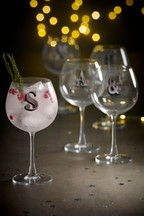 Alphabet Gin Glass