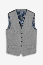 Empire Mills Signature Puppytooth Check Suit: Waistcoat