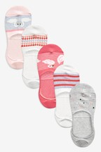 Swan Sparkle Invisible Trainer Socks Five Pack
