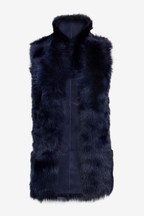 Whistles Navy Sheepskin Jacket