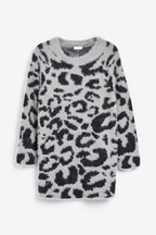 Animal Sparkle Jumper Dress (3-16yrs)
