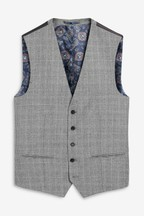Marzotto Signature Check Suit: Waistcoat