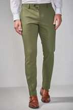 Cotton Blend Suit: Trousers
