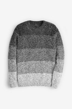 Ombre Colourblock Crew Neck Jumper