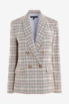 Emma Willis Pastel Check Double Breasted Jacket