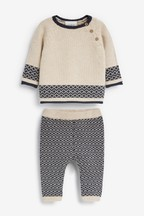 Two Piece Knitted Jumper And Legging Set (0mths-2yrs)
