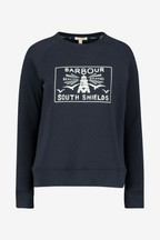 Barbour® Coastal Navy Beacon Logo Sweatshirt