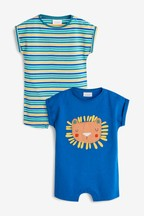 Lion Rompers Two Pack (0mths-2yrs)