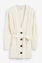 Belted Cable Cardigan