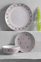 12 Piece Retro Floral Dinner Set