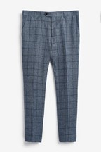 Nova Fides Signature Check Linen Suit: Trousers