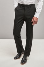 Plain Front Trousers With Teflon® Finish