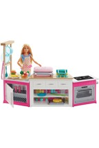 Barbie Kitchen Playset With Doll With Lights And Sounds