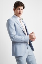 French Connection Slim Fit Powder Blue Marl Jacket