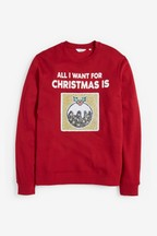 Men's Matching Family Christmas Pudding Sweater