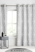 Geo Star Lines Eyelet Curtains