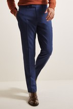 Moss 1851 Tailored Fit Blue Sharkskin Trouser