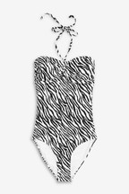 Matching Family Womens Zebra Bandeau Swimsuit