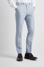 French Connection Slim Fit Powder Blue Marl Trouser