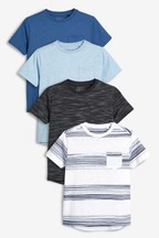 Textured Short Sleeve T-Shirts Four Pack (3-16yrs)