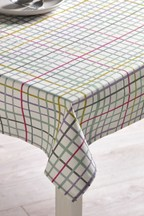 Wipe Clean Coloured Check Tablecloth