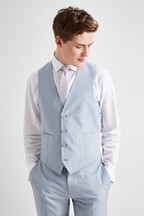 French Connection Slim Fit Powder Blue Marl Waistcoat