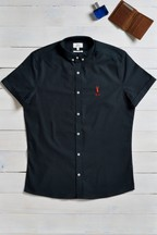 Personalised Navy Stretch Oxford Shirt