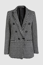 Double Breasted Bouclé Jacket