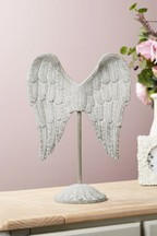 Carved Angel Wings Sculpture