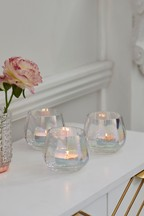 Set of 3 Lustre Tealight Holders