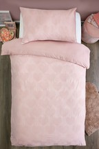 Cotton Rich Heart Waffle Bed Set
