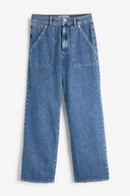 Superdry Blue Wide Leg Jeans