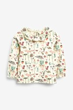 Character Print Collar Top (3mths-7yrs)