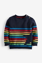Rainbow Stripe Star Jumper (3mths-7yrs)