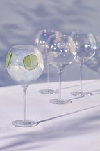 Set of 4 Lustre Effect Gin Glasses