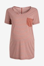 Maternity Stripe Pocket Tee