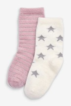 2 Pack Star And Stripe Cosy Socks