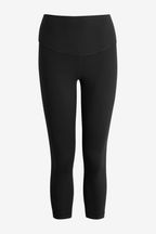 High Waisted 3/4 Length Control Sports Leggings