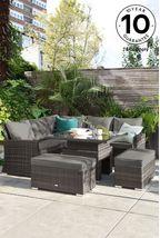 Monaco Slim Living And Dining Table Garden Set