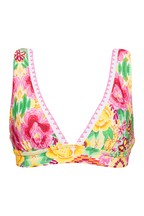 Figleaves Yellow Floral Frida Soft Over The Shoulder Bikini Top