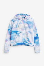 Hype. Rainbow Clouds Cropped Hoody