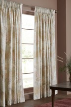 Glam Tropical Palm Pencil Pleat Curtains