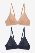 Lizzie Non Pad Mesh Bras Two Pack